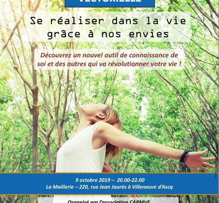 Conférence «Se réaliser dans la vie grâce à nos envies» – 9 octobre 2019