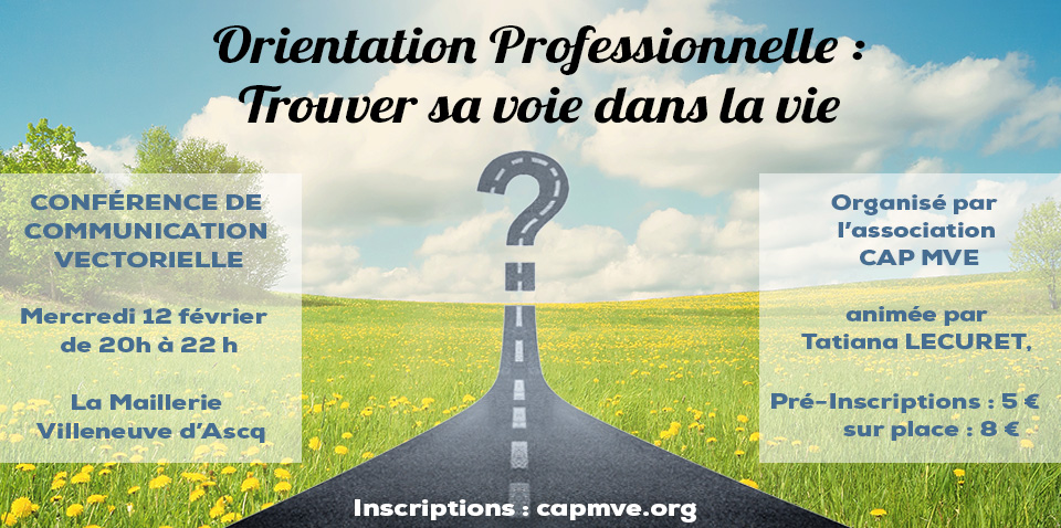 Conférence «Orientation professionnelle : trouver sa voie dans la vie» – 12 février 2020