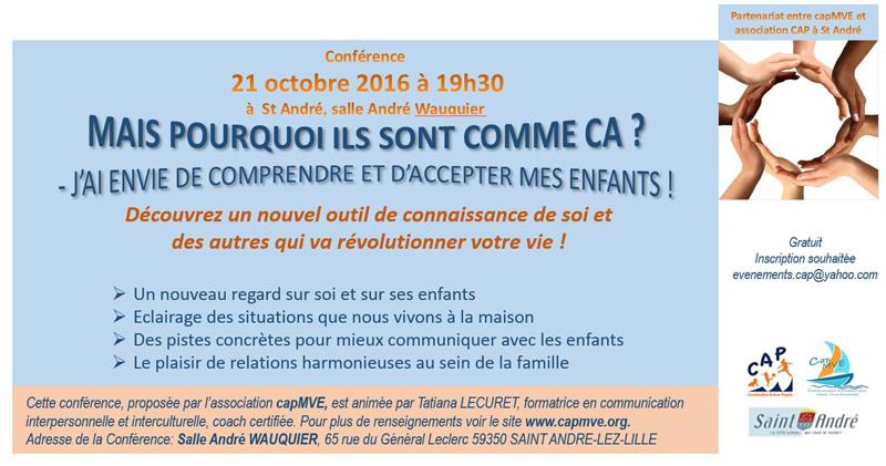 Conférence «La Psychologie SV de Bourlane» – 21 octobre 2016