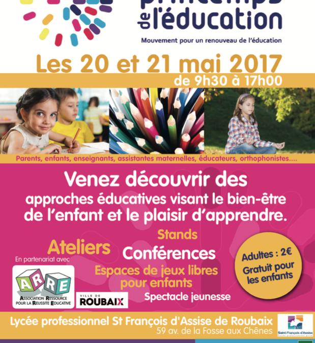 Forum «Le printemps de l'Éducation» – le 20 et le 21 mai 2017