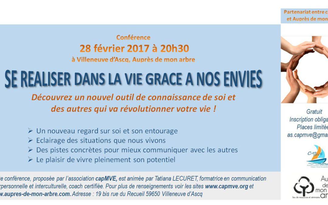 Conférence «Se réaliser dans la vie grâce à nos envies»
